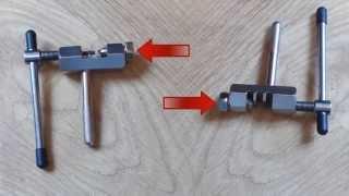 Как пользоваться выжимкой для велосипедной цепи, секрет.(Мой ВК https://vk.com/id263241899 Полезные видео с моего канала, о ремонте велосипеда. 1) Задняя втулка колеса обслуживан..., 2015-04-04T06:50:25.000Z)