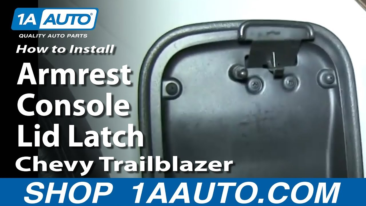 how to install replace center armrest console lid latch 2002 09 gmc envoy chevy trailblazer youtube [ 1920 x 1080 Pixel ]