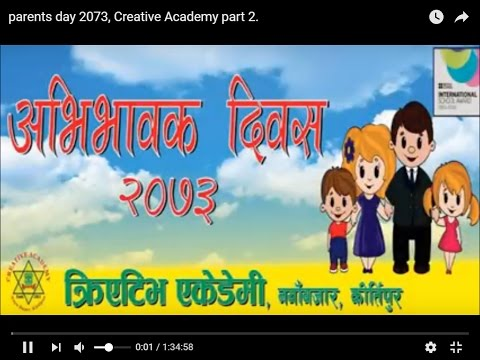 Parents day 2073, Creative Academy part 1.