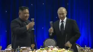 Vladimir Putin, Kim Jong Un Toast to Peace at First Summit in Russia