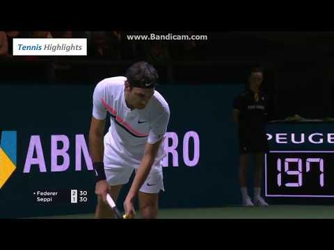 Roger Federer vs Andreas Seppi - SF Rotterdam 2018 Highlights