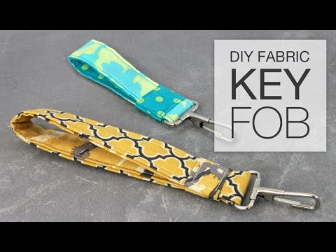 DIY Fabric Key Fob Tutorial - YouTube 87e925638eb1