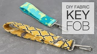 DIY Fabric Key Fob Tutorial