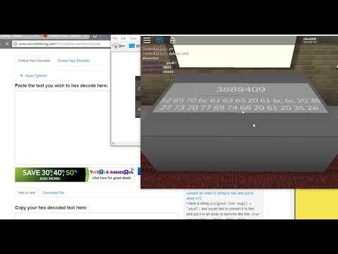Updated Version Roblox Id Fraud Morse And Hex Help Youtube