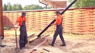 видео Порядок монтажа фундамента на винтовых сваях