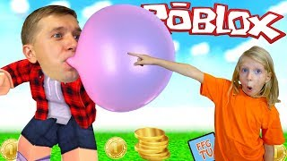 HOODWINKED CUD and flew off into space! Simulation of bubble gum in Roblox Milan and Dad at FFGTV