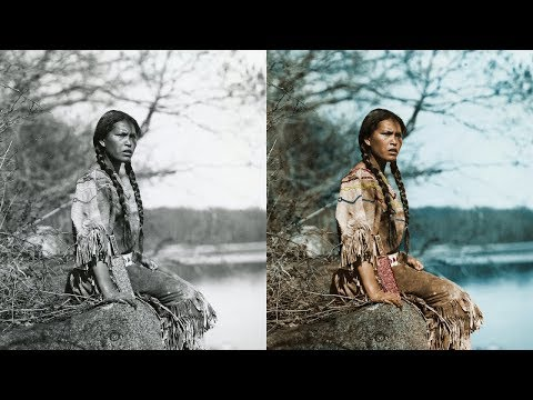Colorized Historical Photos Of American Indians In The Early 1900's