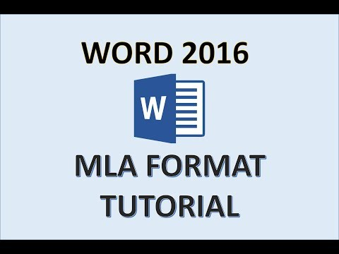 Word 2016 MLA Format - How To Set Up a Research Paper on Microsoft Office 365 for PC or Mac in 2017