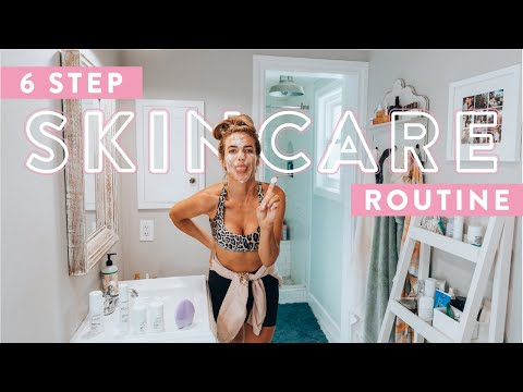 My 6 Step Clean Skincare Routine   Quick & Easy for GLOWING Clear Skin - YouTube