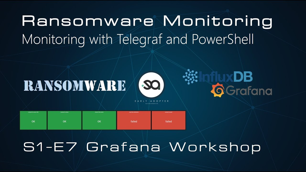 S1E7 - Grafana Workshop - Monitor Ransomware attack with Grafana and  InfluxDB