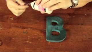 Cute Ways To Decorate Wooden Letters : Bows & Craft Tips