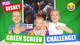 PLUS DISNEY GREEN SCREEN CHALLENGE! [Met Disney Movie Moments] ♥DeZoeteZusjes♥