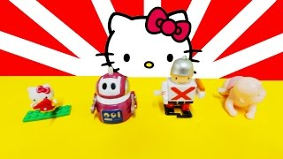 Hello Kitty Surprise Bag Feat. Wind Up Crawling Baby, Robot & Soldier