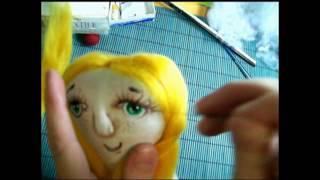 Как сделать волосы кукле из шерсти для валяния. Марина Баранова