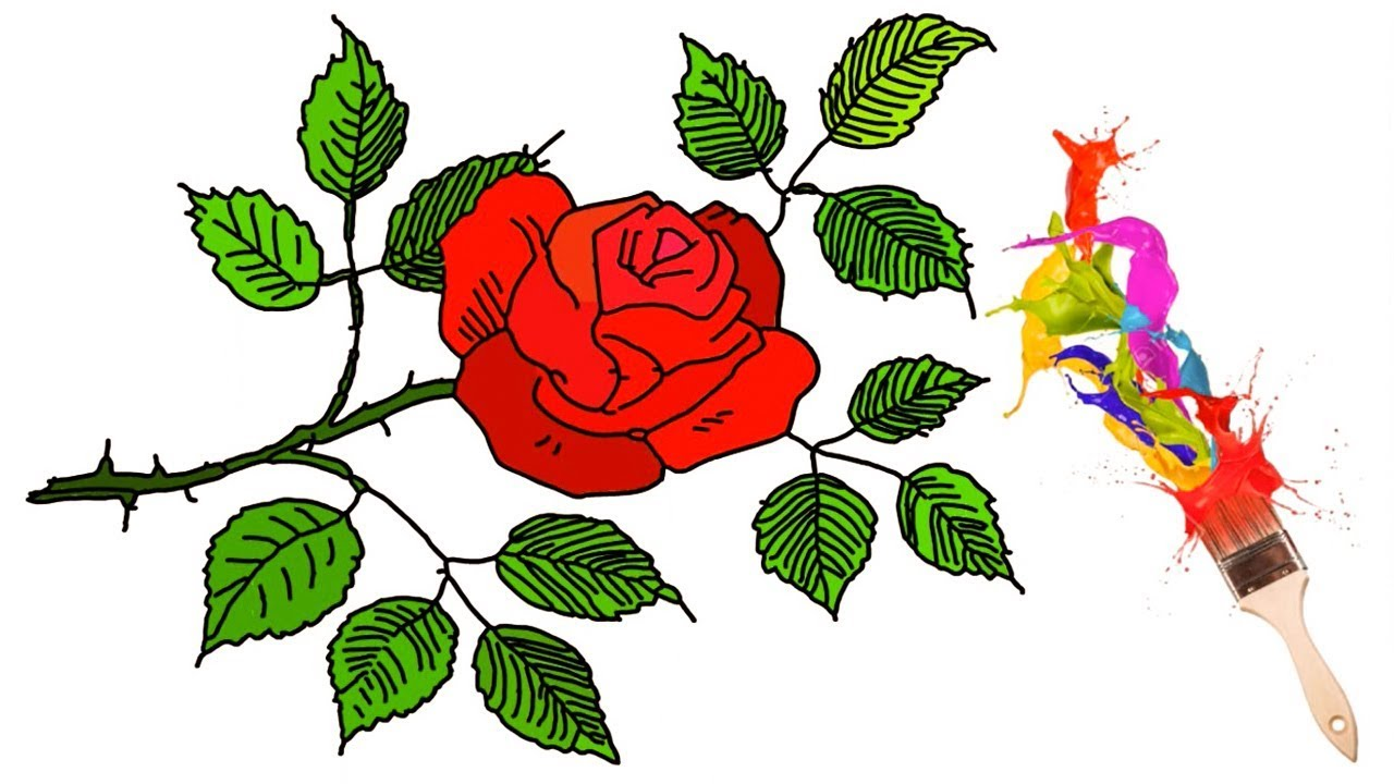 This is a picture of Inventive Rose Leaf Drawing
