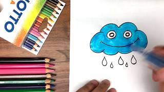 Dạy bé tập vẽ đám mây