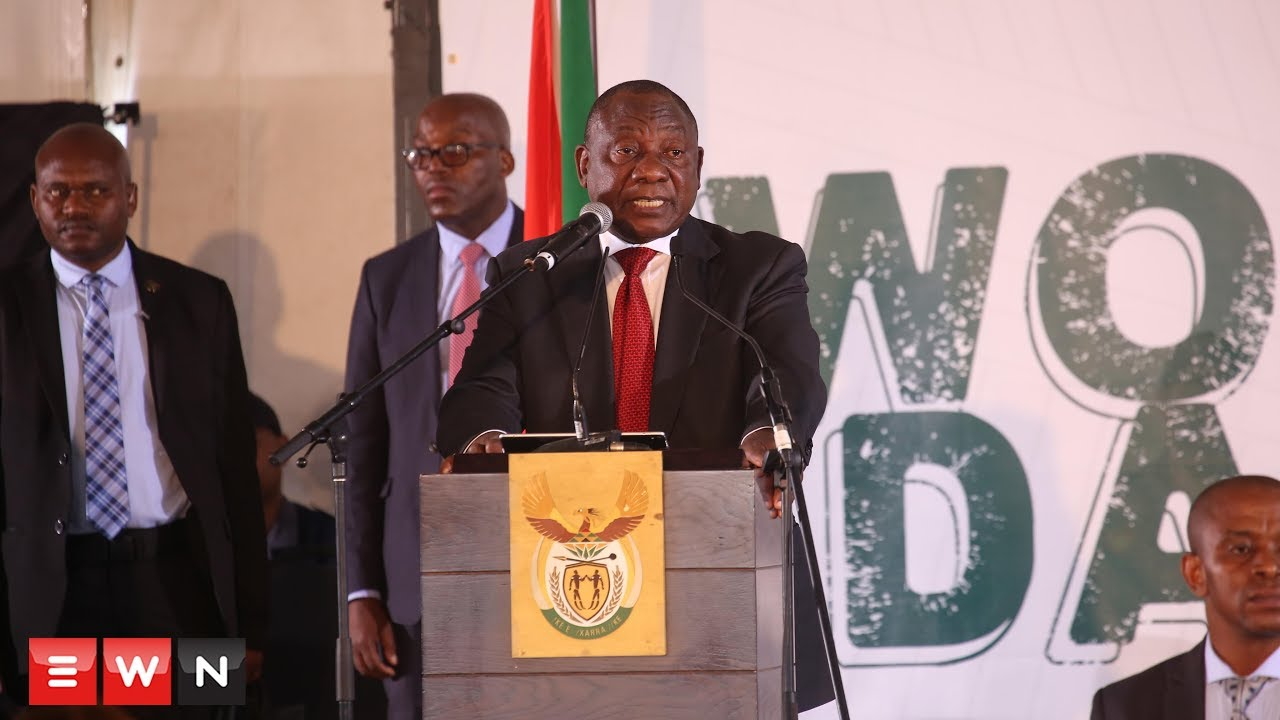 President Ramaphosa's Women's Day address in South Africa..