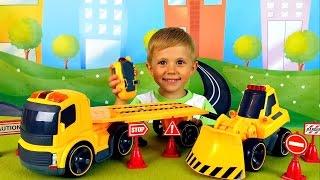 Машинки для детей с малышом Даником - Сборник видео с машинками Носики Курносики