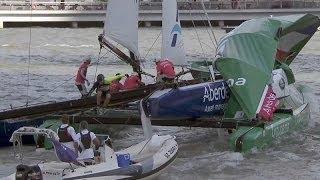 Extreme Sailing World Series 2014: Aufregende Bilder vom Auftakt in Singapor