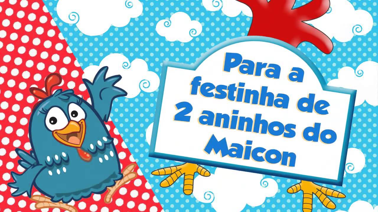 Convite Virtual Galinha Pintadinha YouTube