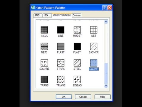 how to add hatch pattern in autocad