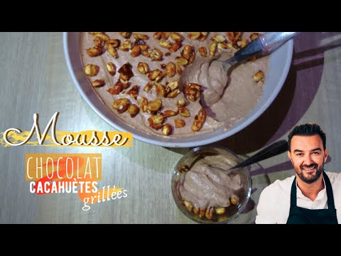 mousse-chocolat-cacahuètes-sans-oeufs-de-cyril-lignac---léa-cooking