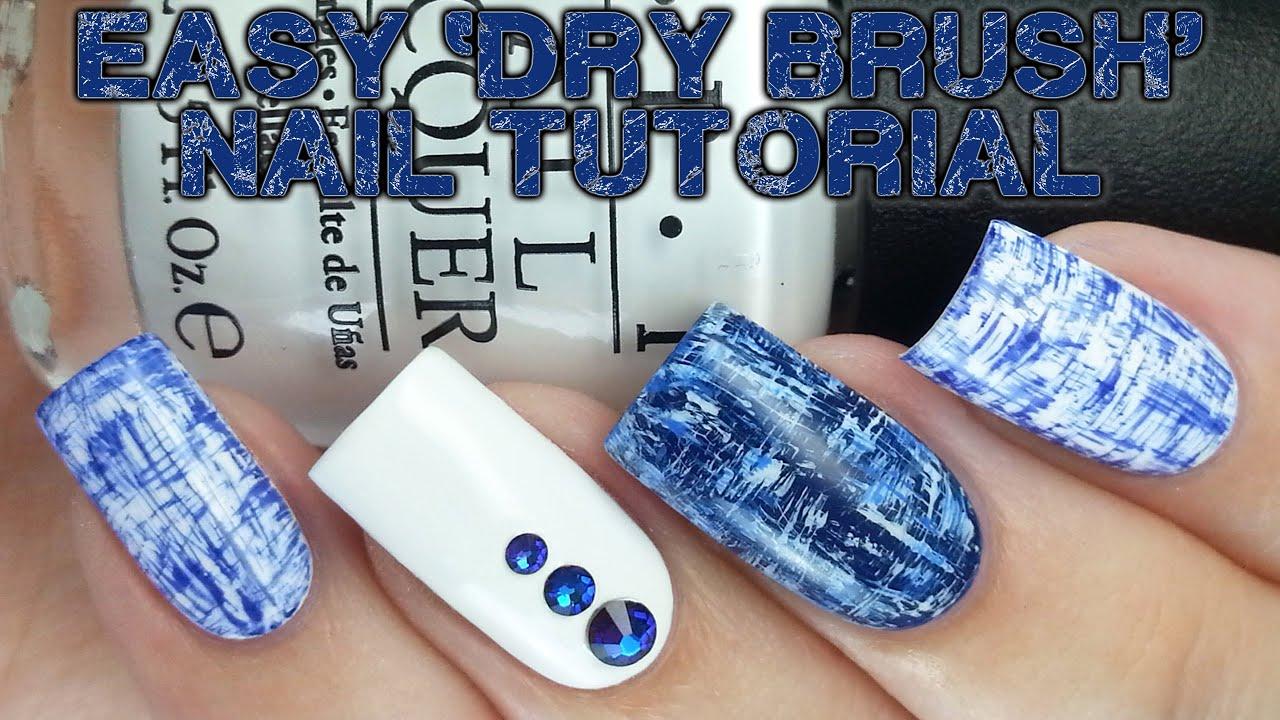Easy Dry Brush Nails No Tools Needed