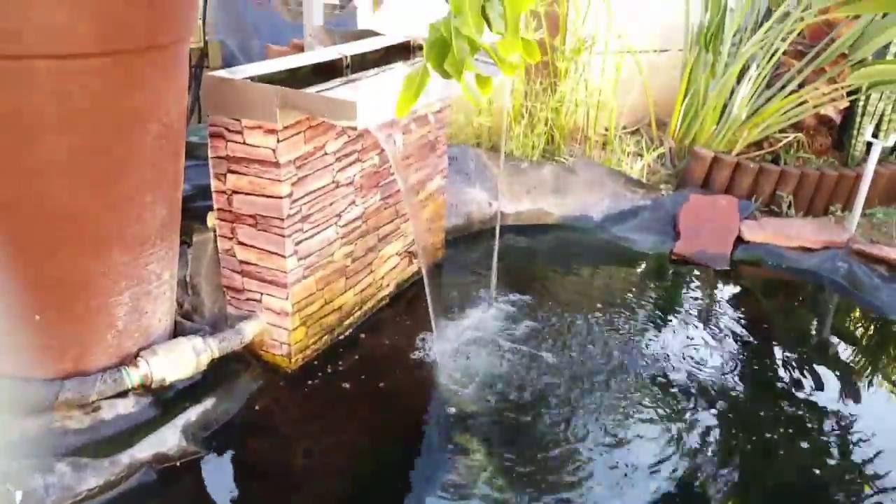 Diy biological filter for 2000 liters pond youtube for Biological pond filter diy