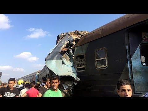Egypte : au moins 36 morts dans une collision entre deux trains