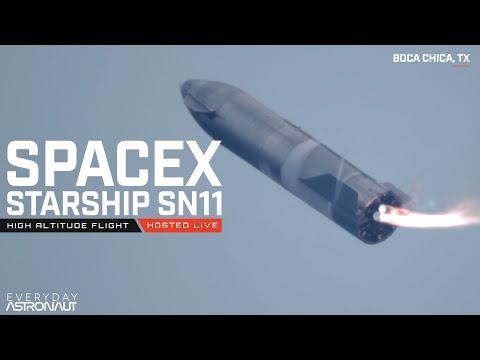 Starship SN11 exploded during landing, debris fell from the sky!