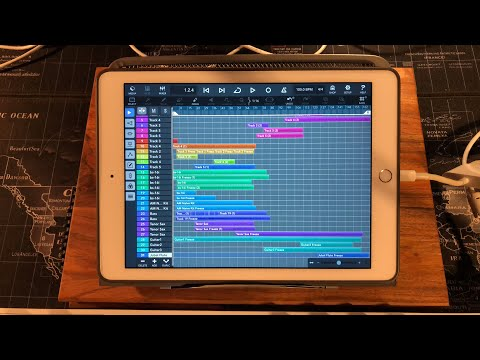 Cubasis 3 - Recording Just Using The Internal Instruments & Effects - iPad Live