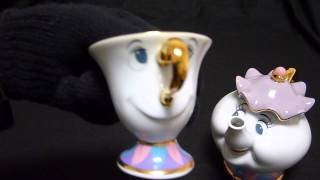 Beauty and the Beast Tea Cup Teapot potts pot and chip Tokyo Disneyland Limited