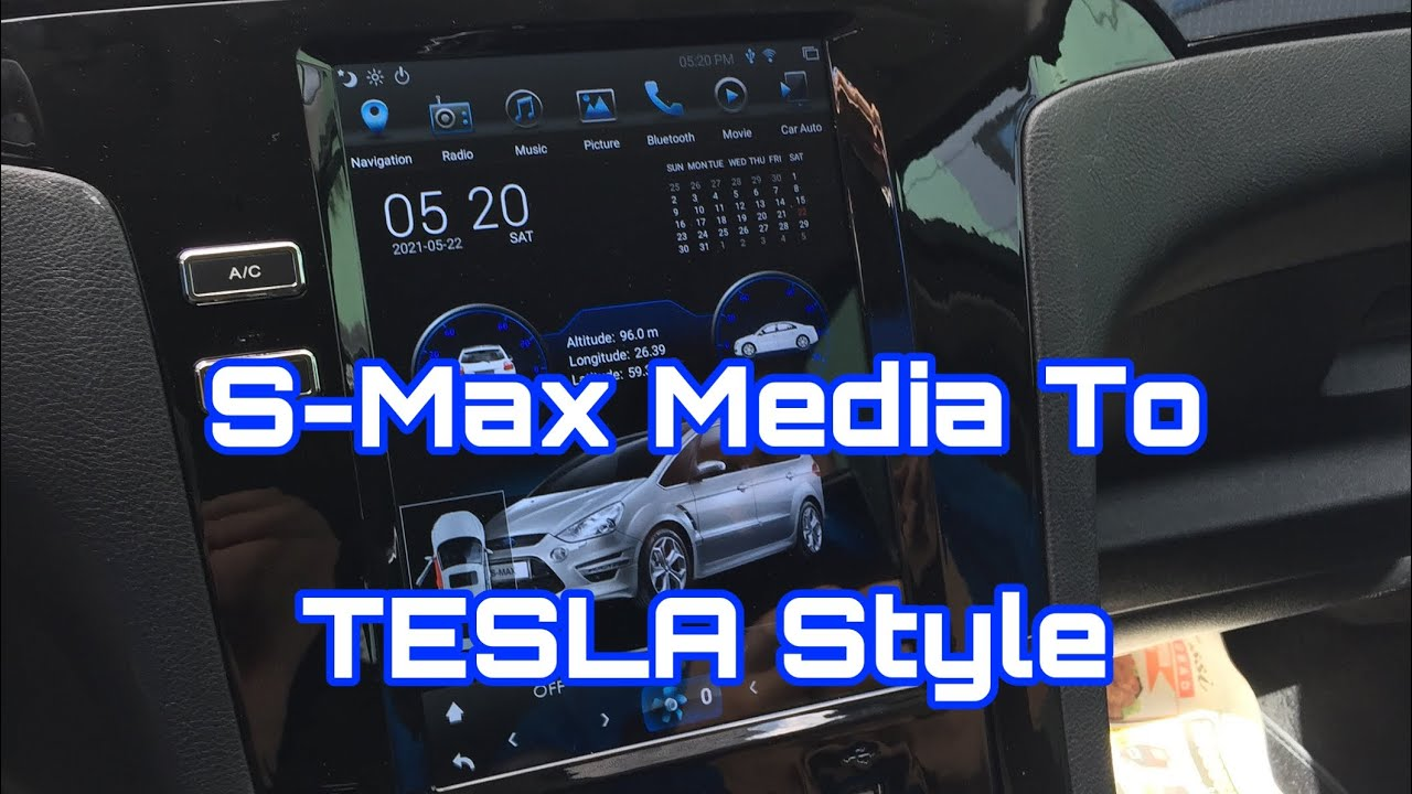 Ford S-Max Media Upgrade to Tesla Style