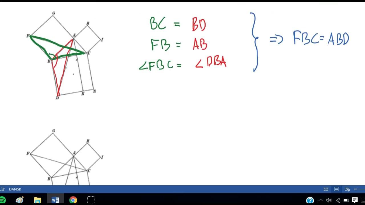 Euklids bevis for Pythagoras sætning
