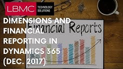 Dynamics 365 Business edition - Dimensions and Financial Reporting (Dec 2017)