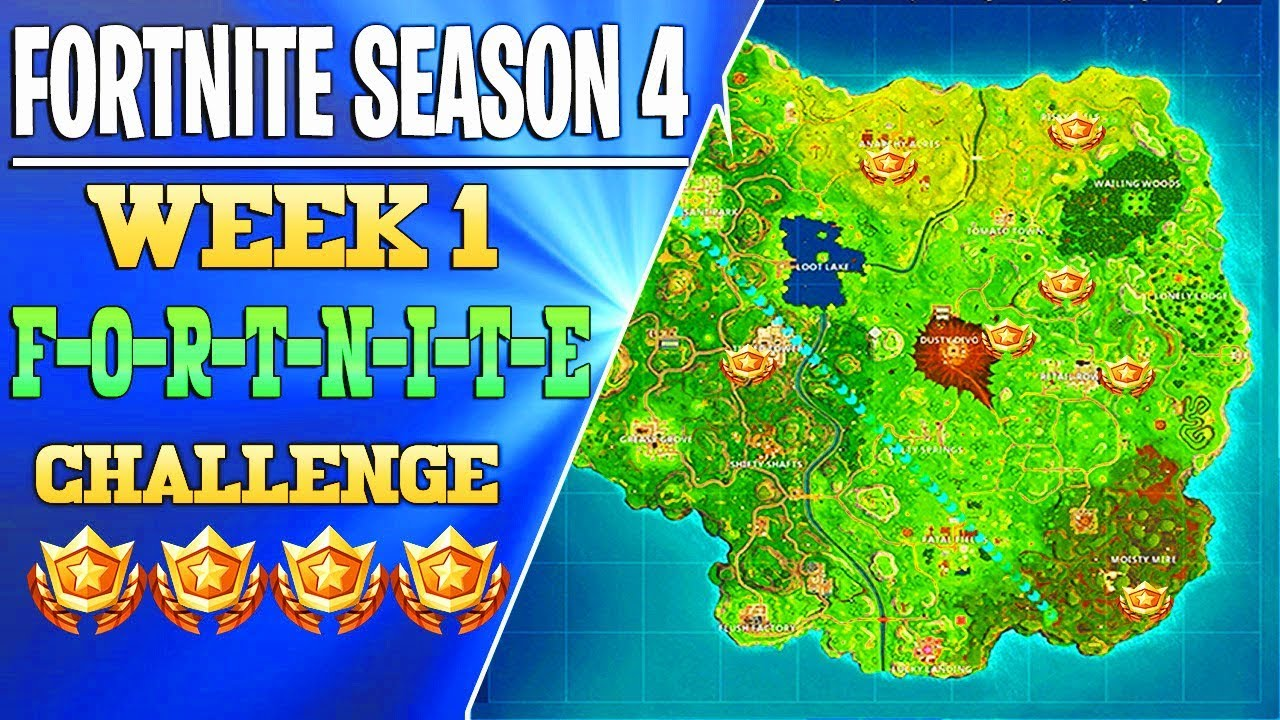 fortnite battle royale all fortnite letters location guide season 4 week one challenge - where are the fortnite letters located