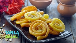 Jalebi, Recipe for Jalebi, Homemade Jalebi by Tarla Dalal