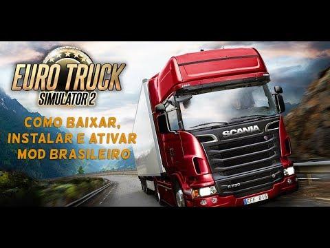 TUTORIAL - APRENDA A Instalar MOD MAPA Brasileiro No Euro Truck Simulator 2