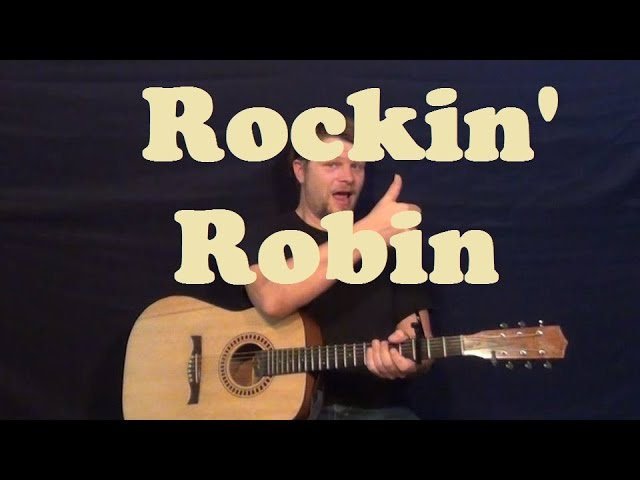 Rockin Robin Bobby Day Easy Guitar Lesson Strum Chord How To Play