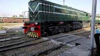 Re-Painted Zcu 20 on LHF mode taking rake of Islamabad Express to Islamabad