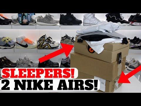 2 NIKE AIR SNEAKER SLEEPERS I HAD TO COP!!