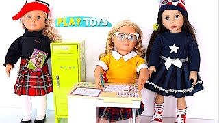 Video Baby Doll morning routine school day*  Play AG dolls bunk bed, dress up closet,  School locker desk download MP3, 3GP, MP4, WEBM, AVI, FLV Mei 2018