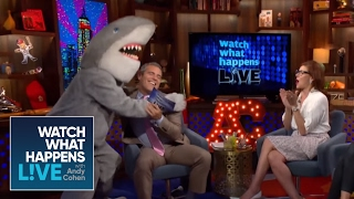 Debra Messing and Ali Wentworth Jump the Gay Shark (Summer Moment #2) | WWHL