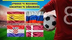 WM Tipps Achtelfinale #2 - Prognosen und Vorhersagen für Kroatien - Dänemark und Spanien - Russland