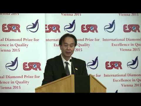 Dai Nippon Printing  DNP Japan received the ESQR's International Diamond Prize 2015 in Vienna