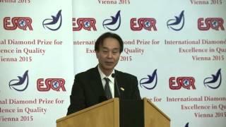 Dai Nippon Printing - DNP (Japan) received the ESQR's International Diamond Prize 2015 in Vienna