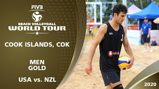 Men's Gold Medal: USA vs. NZL | 1* Cook Islands (COK) - 2020 FIVB Beach Volleyball World Tour