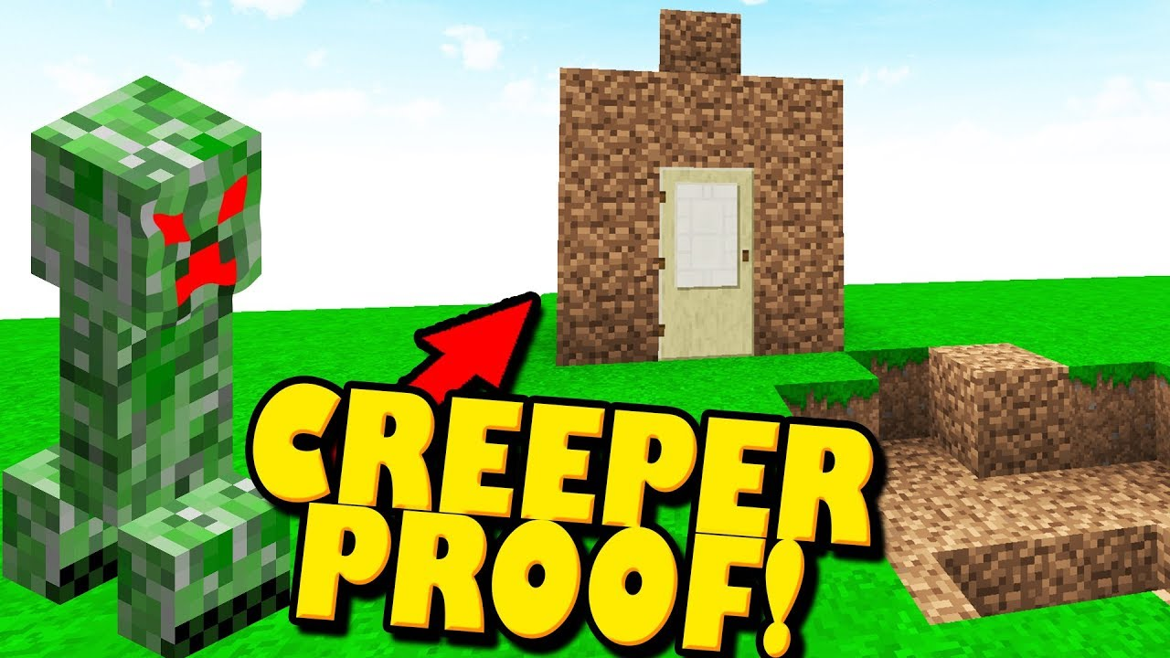 minecraft creeper proof house best material for building