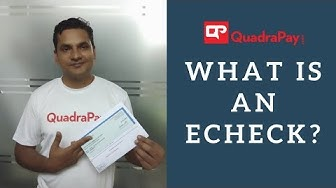 What is an echeck?