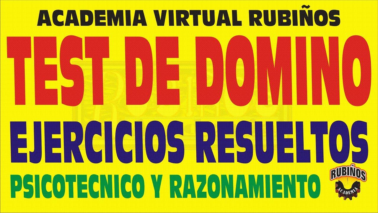 TEST DE DOMINO EJERCICIOS RESUELTOS DE PSICOTECNICO - YouTube